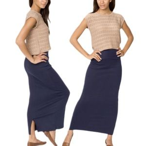 American Apparel Youth Interlock Long Maxi Skirt